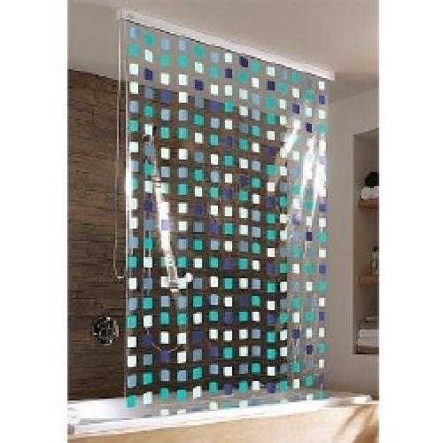 kleine wolke duschrollo incl alu kassette mosaik blue. Black Bedroom Furniture Sets. Home Design Ideas