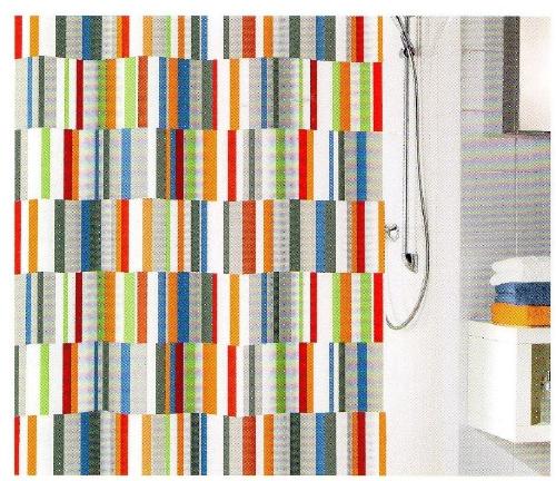 duschvorhang textil samara multicolor 180 x200 cm kleine wolke ebay. Black Bedroom Furniture Sets. Home Design Ideas